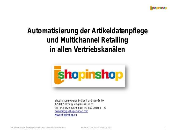 Automatisierung der Artikeldatenpflege                          und Multichannel Retailing                           in al...