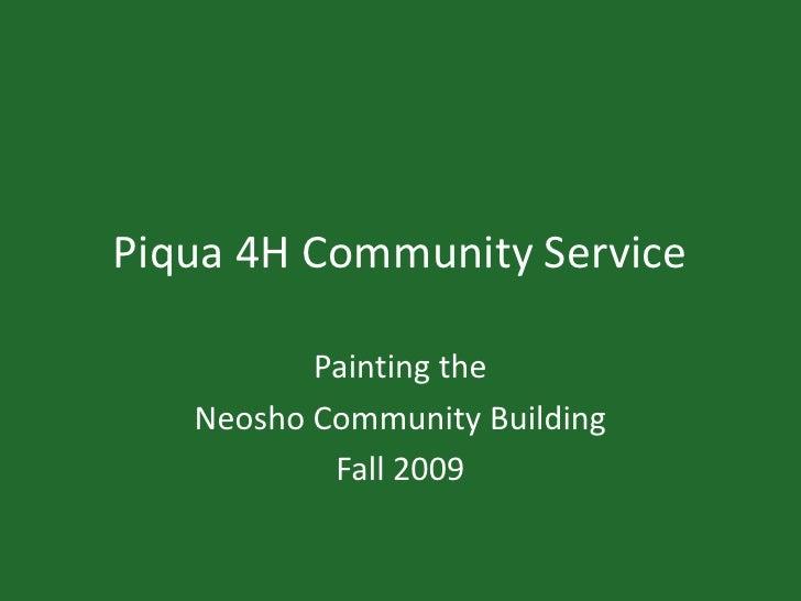 Piqua 4H Community Service for Neosho Falls