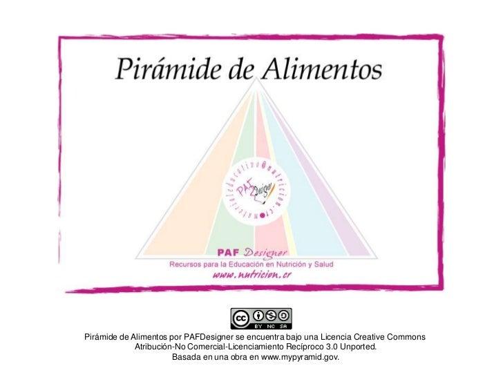 Pirámide de Alimentos por PAFDesigner se encuentra bajo una Licencia Creative Commons             Atribución-No Comercial-...