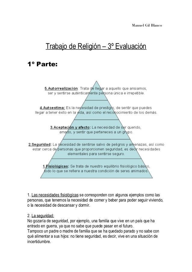 Piramide de maslow y explicación