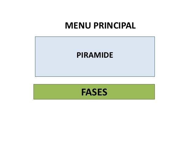MENU PRINCIPAL  PIRAMIDE   FASES