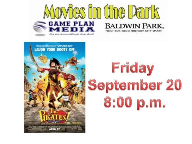 Movies in the Park, Pirates   band of misfits movie previews