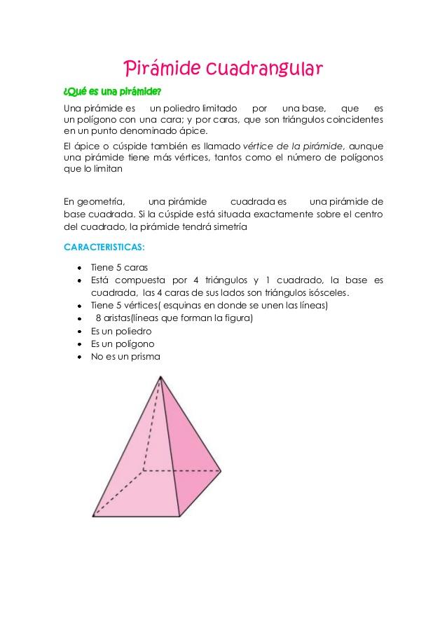 Pirámide cuadrangular
