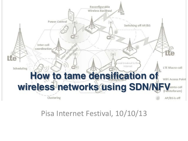 How to tame densification of wireless networks using SDN/NFV Pisa Internet Festival, 10/10/13