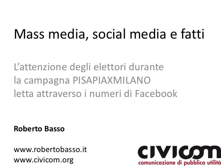 Pisapiaxmilano analisi facebook vs eventi