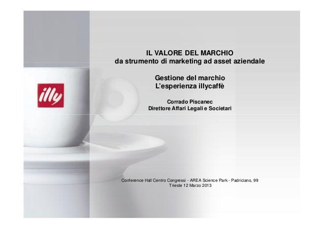 IL VALORE DEL MARCHIOda strumento di marketing ad asset aziendale                 Gestione del marchio                 L'e...