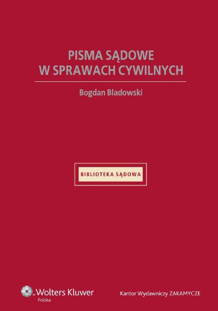 Pisma sądowe w sprawach cywilnych - ebook