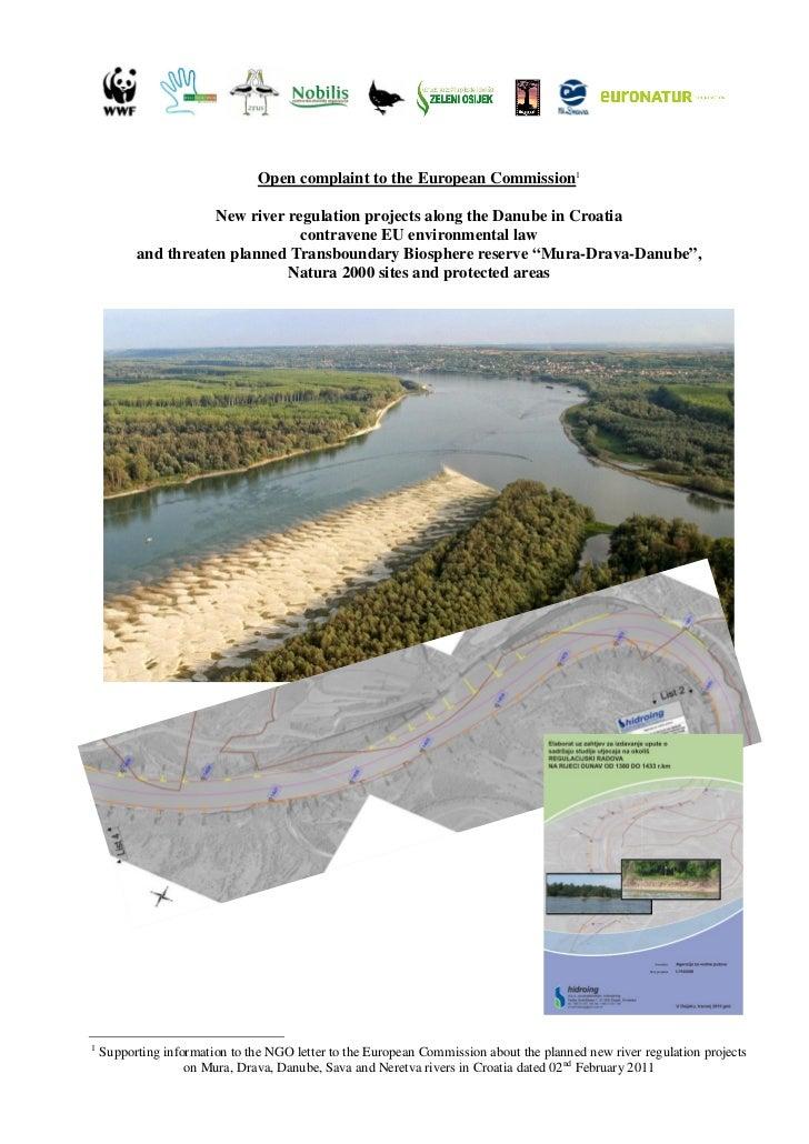 Novo pismo Europskoj komisiji: Novi planovi regulacije Dunava protiv su okolišnih zakona EU te prijete Rezervatu biosfere Mura-Drava-Dunav