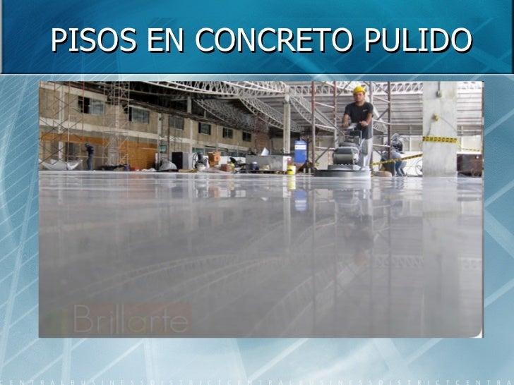Piso en concreto for Piso cemento pulido