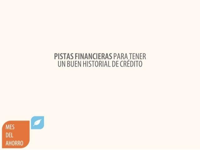 Pistas financieras para tener un buen historial de crédito