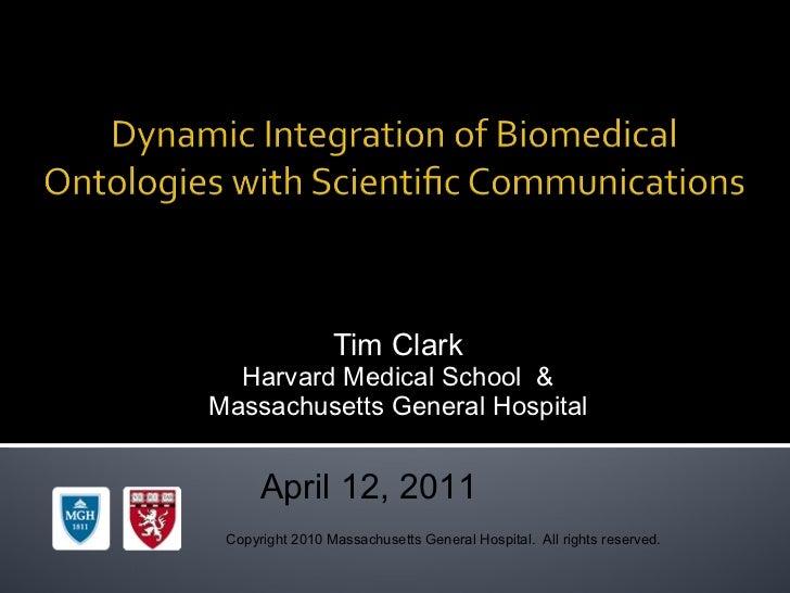 Dynamic Semantic Metadata in Biomedical Communications