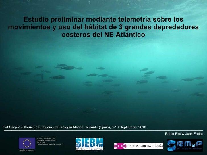 Estudio preliminar mediante telemetría sobre los movimientos y uso del hábitat de 3 grandes depredadores costeros del NE A...