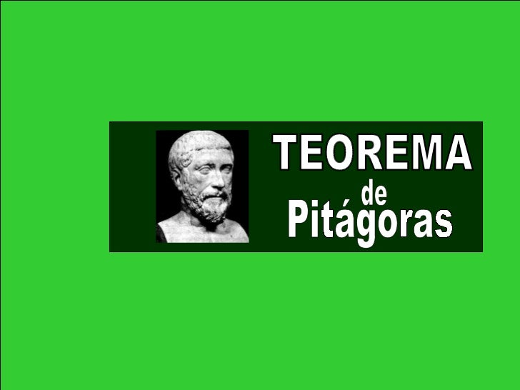 TEOREMA Pitágoras de