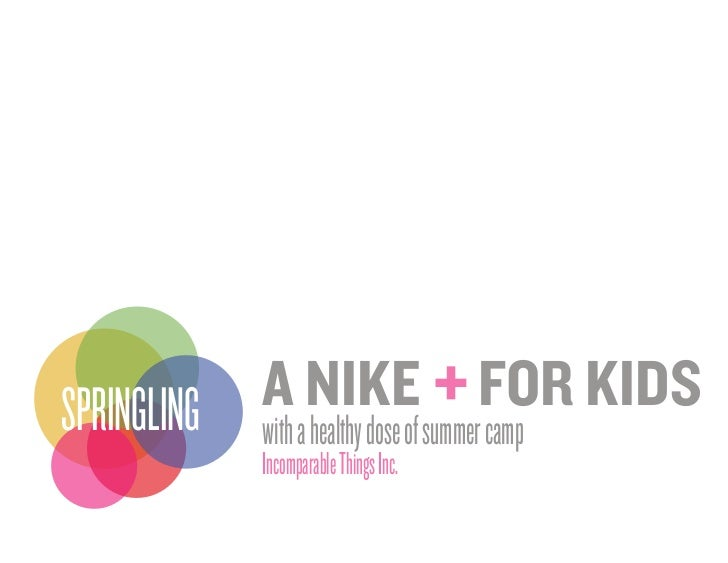 A NIKE FOR KIDS                                         +SPRINGLING with a healthy dose of summer camp              Incomp...