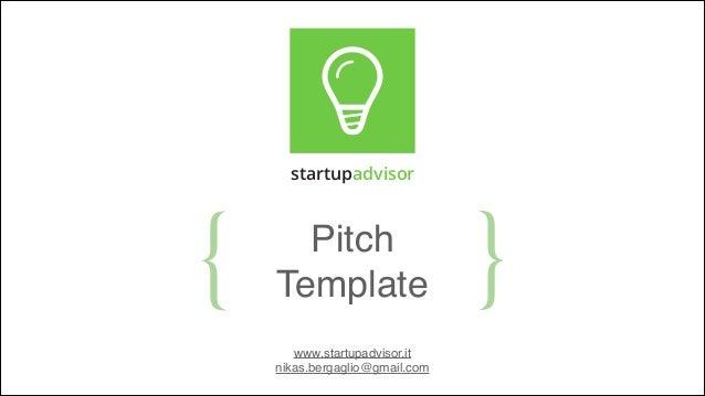Pitch Template Startupadvisor