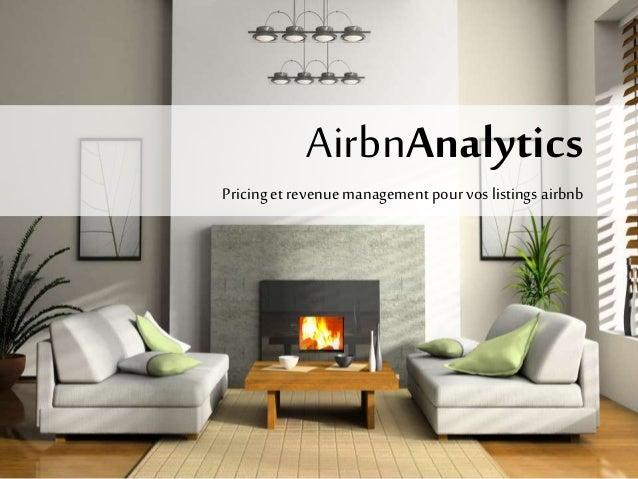 AirbnAnalytics  Pricing et revenue management pour vos listings airbnb