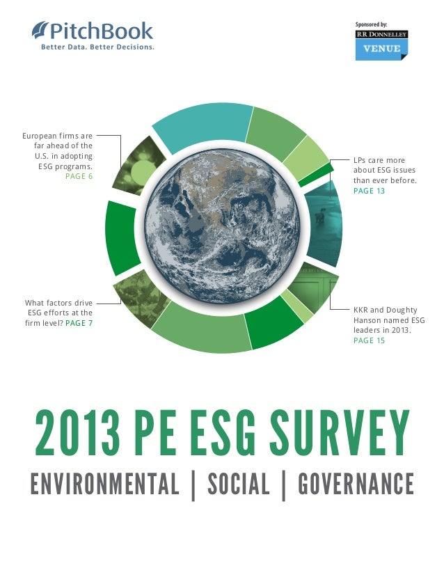 Sponsored by:  European firms are far ahead of the U.S. in adopting ESG programs. PAGE 6  What factors drive ESG efforts a...