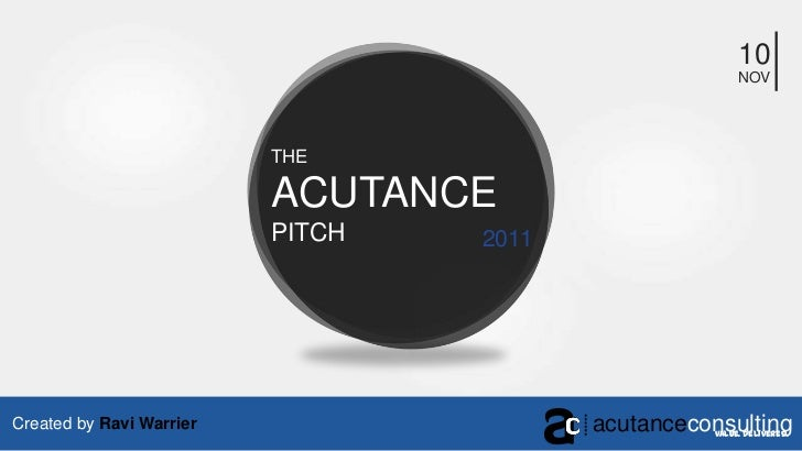 Acutance Consulting's Sales Pitch