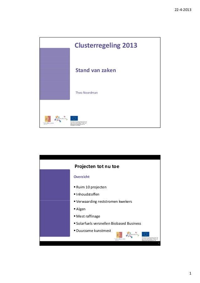 Pitch clusterregeling svz april 2013