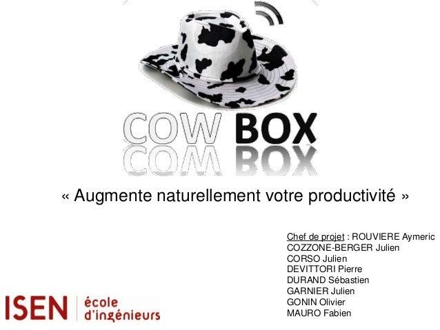 « Augmente naturellement votre productivité »                             Chef de projet : ROUVIERE Aymeric               ...