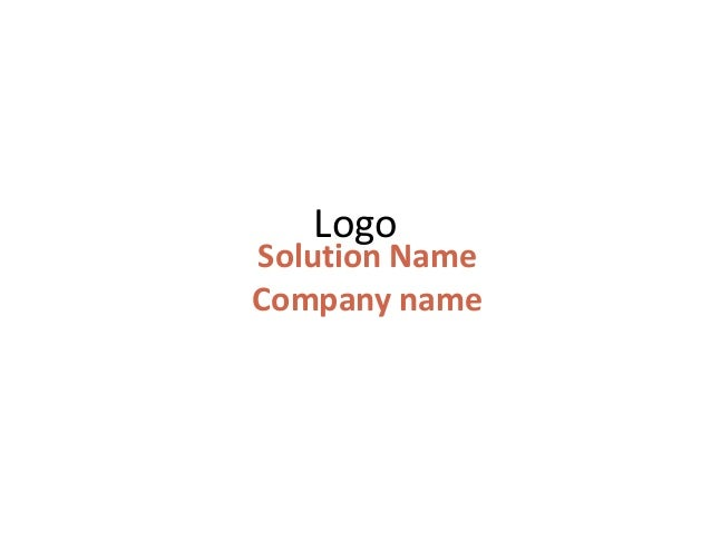 LogoSolution NameCompany name