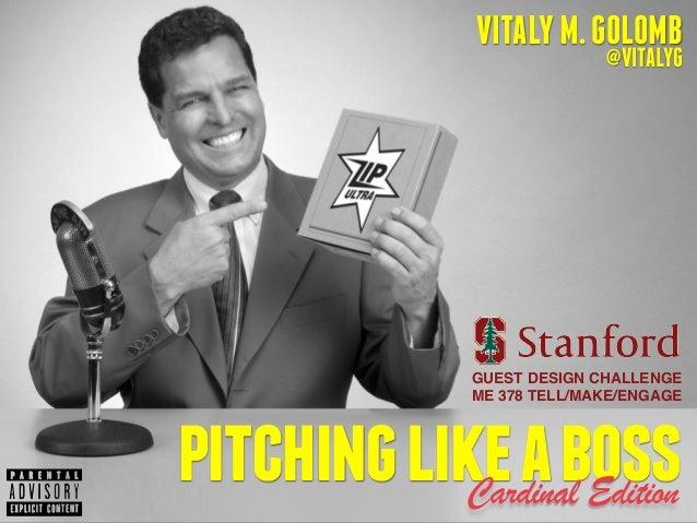 VITALYM.GOLOMB @VITALYG pitchinglikeabossCardinal Edition GUEST DESIGN CHALLENGE! ME 378 TELL/MAKE/ENGAGE
