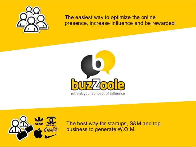 The easiest way to optimize the onlinepresence, increase influence and be rewardedThe best way for startups, S&M and topbu...