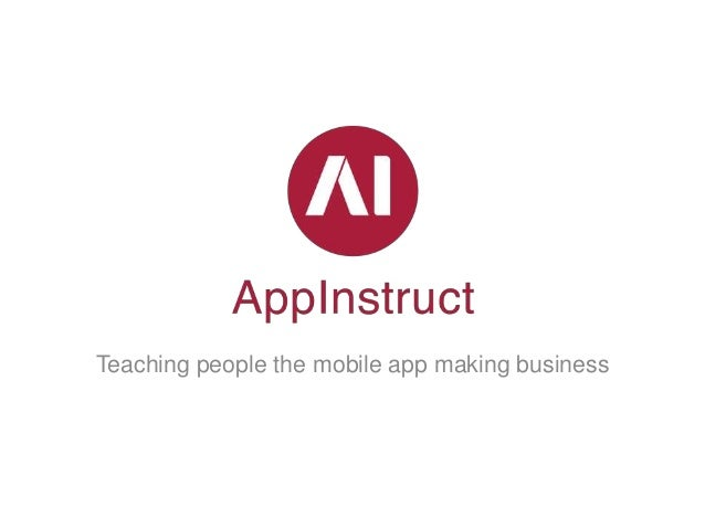 Teaching people the mobile app making business