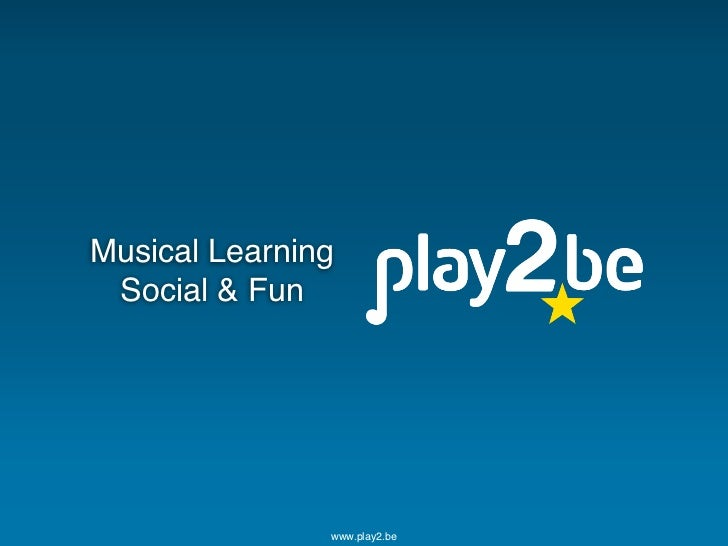 Play2be Pitch Deck