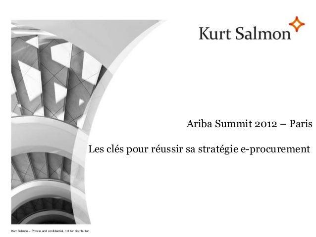 Page 1                                                                                 Ariba Summit 2012 – Paris          ...