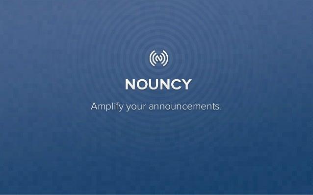 Nouncy presentatie - Startups & social media