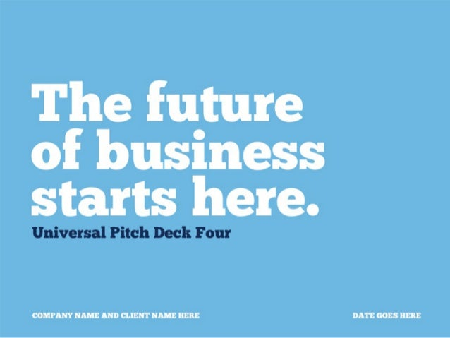 Universal pitch deck template by PitchStock.com