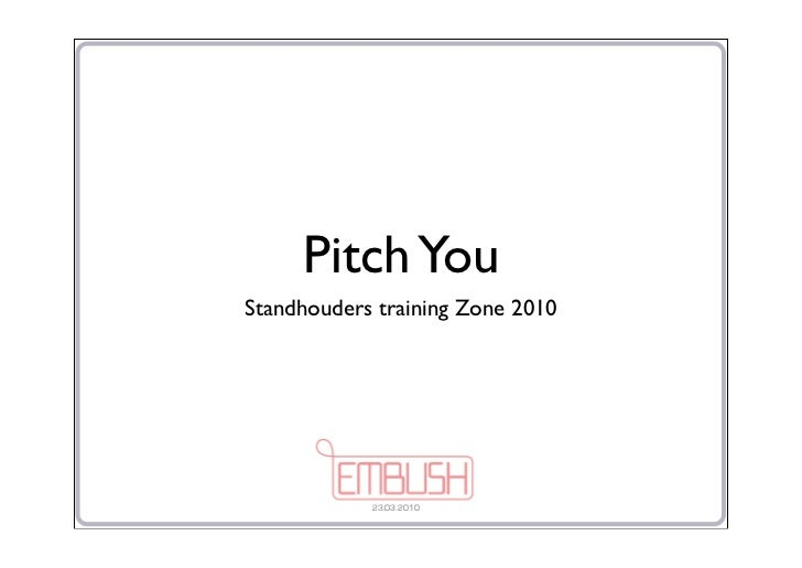 Pitch You training ZONE 2010