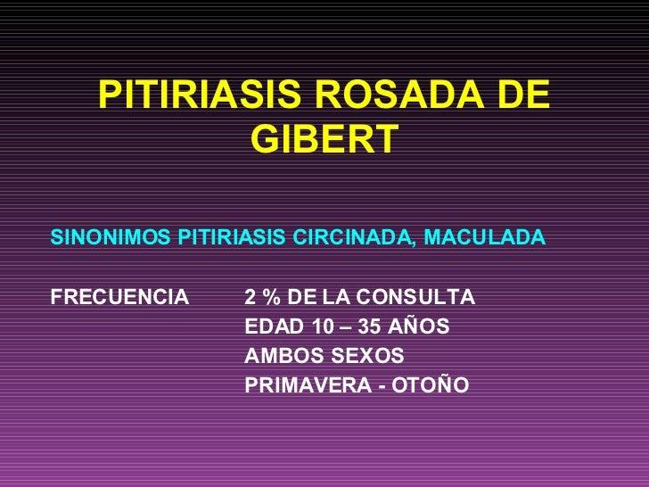 Pitiriasis Rosada De Gibert Dra Rivera