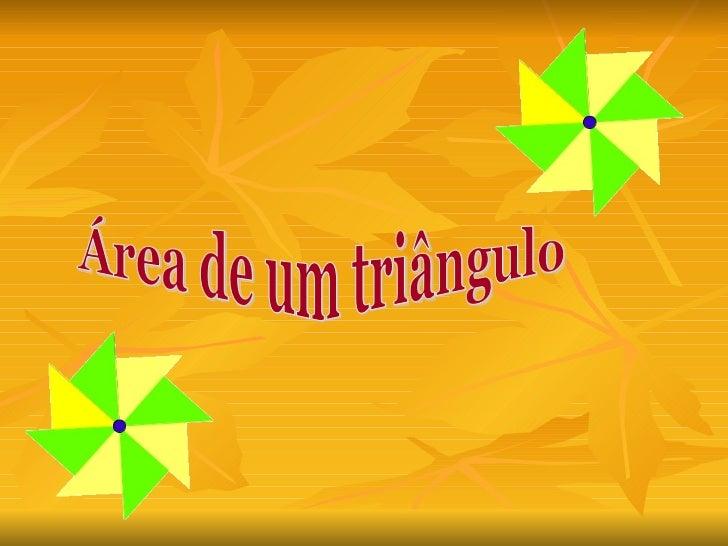 Área de um triângulo