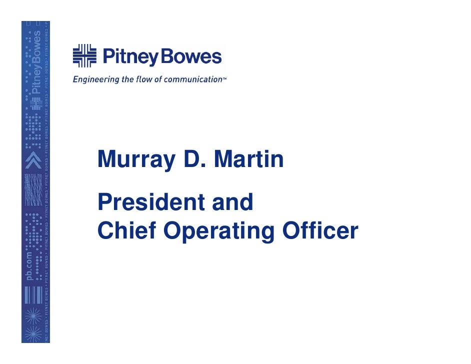 Murray D. Martin President and Chief Operating Officer