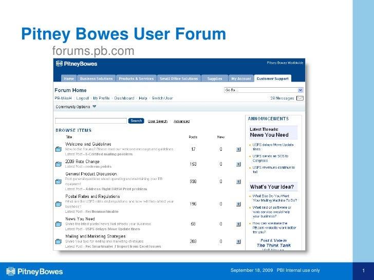 BDI 9/16/09 B2B Social Communications Case Studies - Pitney Bowes