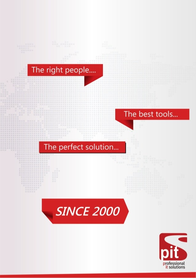 PIT Solutions -  Brochure