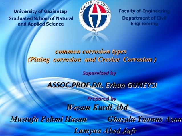 1 ASSOC.PROF.DR. Erhan GUNEYSIASSOC.PROF.DR. Erhan GUNEYSI Supervised bySupervised by Prepared byPrepared by Wesam Kurdi A...