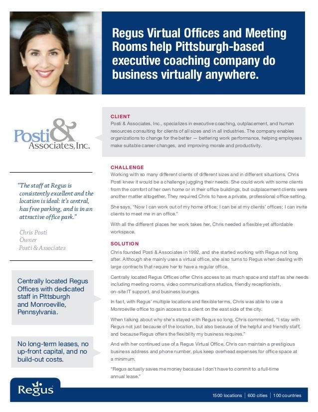 Regus Case Study - Posti & Associates, Inc.