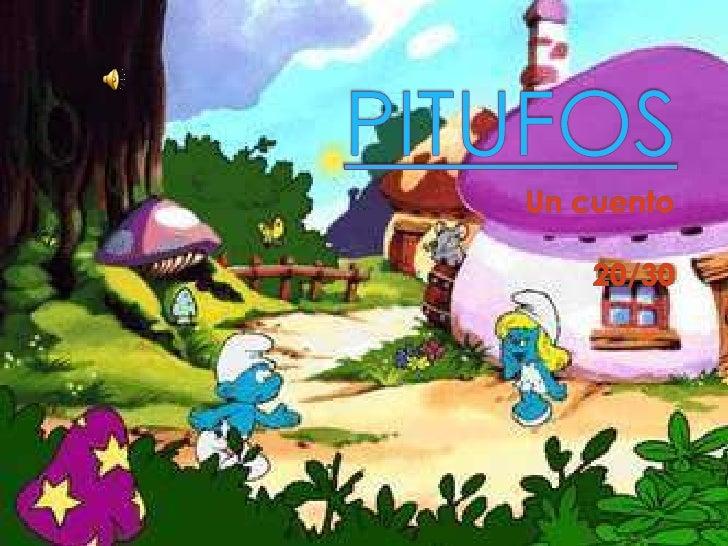 .    En una pequeña cuidad    Vivian un muñecos azules    que era muy    Bonitos que Vivian    aventuras cada día    prota...