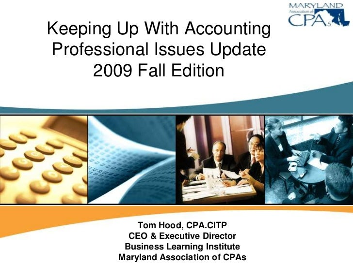 Piu   Keeping Up With Accounting   Fall, 2009   Draft