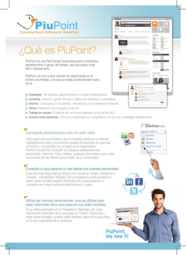 Piupoint red social corporativa para SharePoint