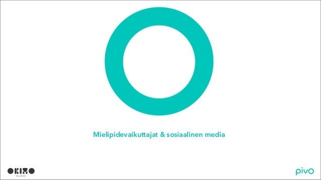 Mielipidevaikuttajat sosiaalisessa mediassa (Pivon ja Okimo Clinicin selvitys)