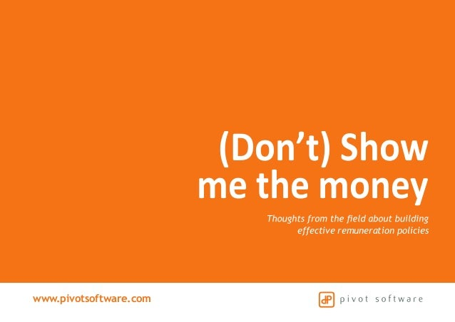 www.pivotsoftware.com effective remuneration policies (Don't) Show me the money