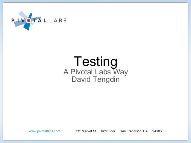 Pivotal Labs presented at MassTLC's automated testing event