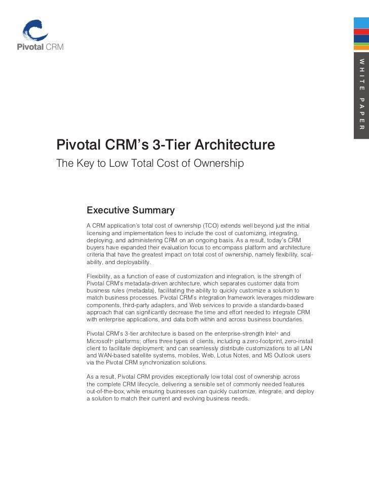 Pivotal crm's 3 tier architecture