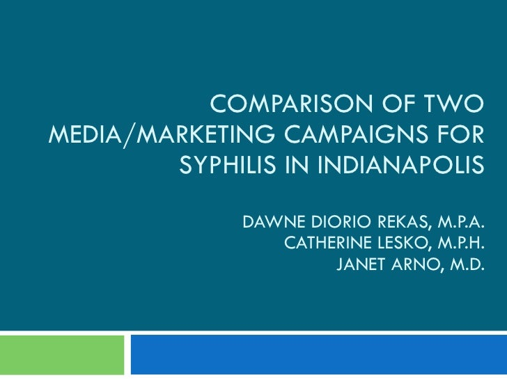 Comparison of Two Media/Marketing Campaigns for Syphilis in Indianapolis