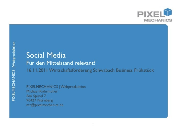PIXELMECHANICS | Webproduktion                                 Social Media                                 Für den Mittel...