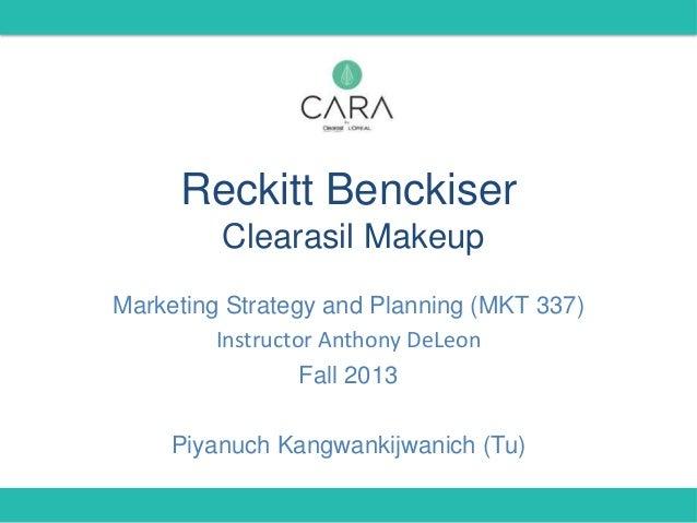 RB Clearasil Makeup: Marketing Plan